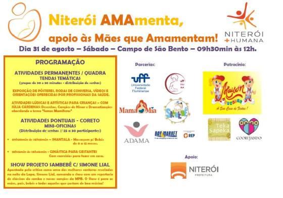 Evento Encerramento Semana Mundial de Amamentação em Niterói
